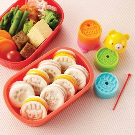 Japanese Bento Bread Stamp Bear Tower 4 Designs