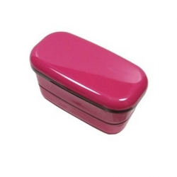 Microwavable Japanese 2-Tier Bento Box Lunch Box Pink