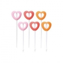 Japanese Bento Party Food Pick with Silicone Tip - Heart