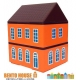 Bento Lunch Box House 2 Tier with cold GelPack and Strap - Orange