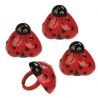 Food Decorating Party Ring Ladybug Heart 8pcs
