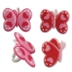 Food Decorating Party Ring Butterfly Heart 8pcs