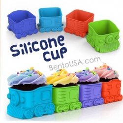 Bento Silicone Baking Food Cup Deluxe - Train Locomotive
