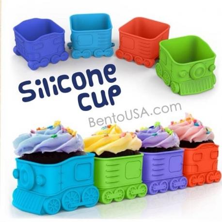 Bento Silicone Baking Food Cup - Train Locomotive