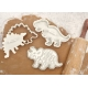Cookie Cutter and Stamp Kit - Dinosaur Dino Fossil