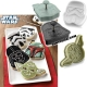 Official Star Wars™ Cookie Cutter and Stamp Set - Darth Vader, Yoda, Boba Fett, Stormtrooper