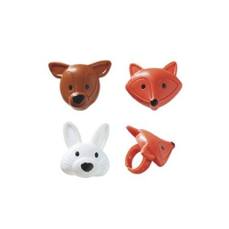 Food Decorating Party Ring Fox 8 pcs