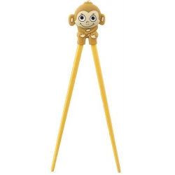Japanese Assisted Training Chopsticks Silicone Monkey Yellow
