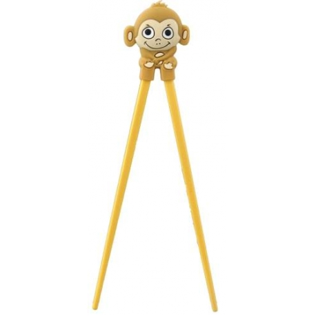 Japanese Assisted Training Chopsticks Silicone Monkey Brown