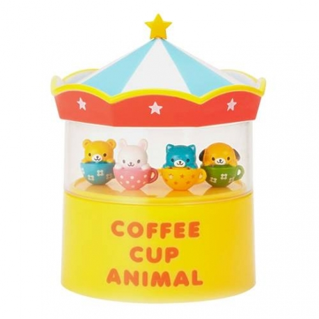 Japanese Bento Animal Cup Food Pick with Circus Tent Case