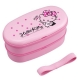 Japanese 2-Tier Hello Kitty Bento Lunch Box Polka Dot Ribbon