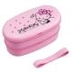 Japanese 2-Tier Hello Kitty Bento Lunch Box Polka Dot Ribbon