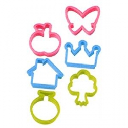 Japanese Bento Ham Cheese Cookie Cutter Set of 6 Variety Cute