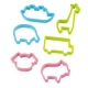Japanese Bento Ham Cheese Cookie Cutter Set of 6 Animal Bus