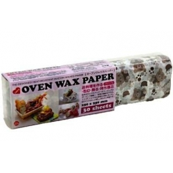 Bear Designed Wax Paper Sandwich Wrapping Sheets 30 pcs Large