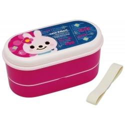 Japanese 2-Tier Bento Lunch Box set with Chopsticks, Strap