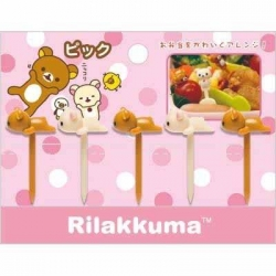 San-X Rilakkuma Bento Fun Lunch Accessories Food Pick 5 pcs