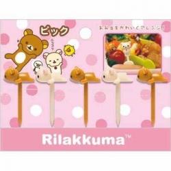 San-X Rilakkuma Bento Fun Lunch Accessories Food Pick 5 pcs