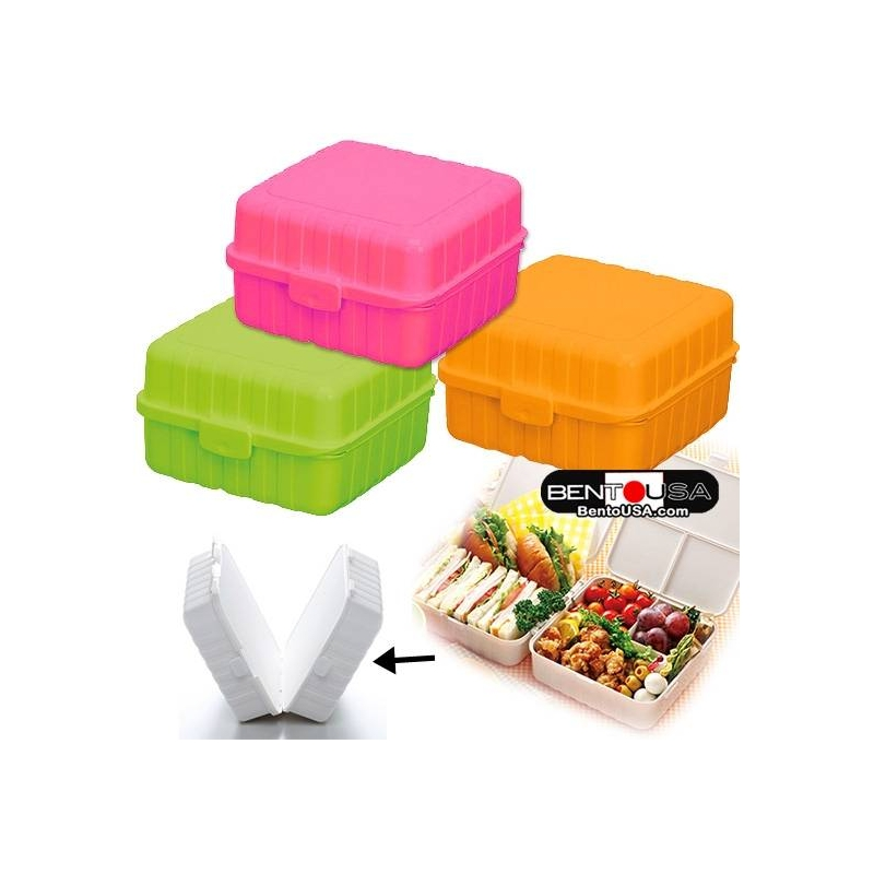 2a297c9de6bf Details about Stylish Vibrant Color Foldable 2-tier 4-compartment bento  lunch box 1150ml
