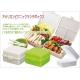 Stylish Vibrant Color Foldable 2-tier 4-compartment bento lunch box 1150ml