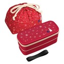 Bento Lunch Box Designer Set Red Rabbit Set