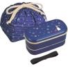 Bento Lunch Box Designer Set Blue Rabbit Set