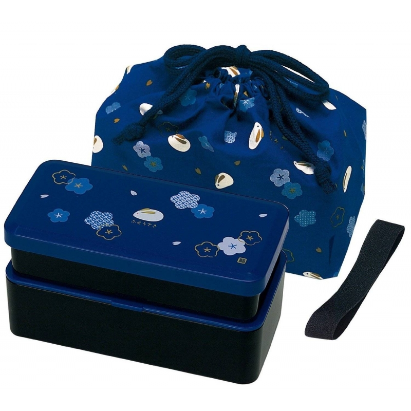 bento lunch box designer set blue rabbit set rectangle blossom for. Black Bedroom Furniture Sets. Home Design Ideas