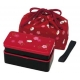 Bento Lunch Box Designer Set Red Rabbit Set Rectangle Blossom