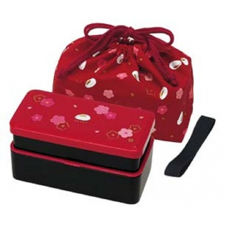 bento lunch box designer set red rabbit set rectangle blossom for. Black Bedroom Furniture Sets. Home Design Ideas