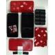 Bento Lunch Box Designer Set Red Rabbit Set Rectangle Blossom