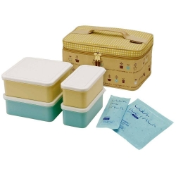 Microwavable Picnic Lunch Box Set With Bag Garden