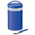 Stainless Steel thermos set 510ml Blue with Fork