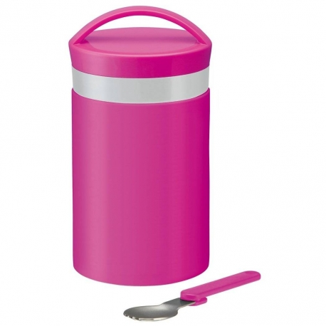 Stainless Steel thermos set 510ml Pink with Fork