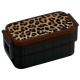 Bento Lunch Box Designer Leopard 600ml