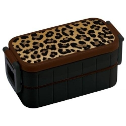 Bento Lunch Box Designer Leopard 600ml