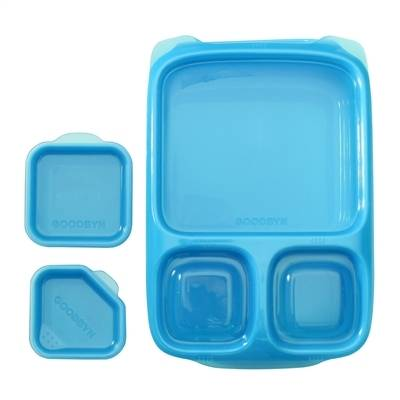Goodbyn Hero Divided Lunch Box With Dippers For Bento