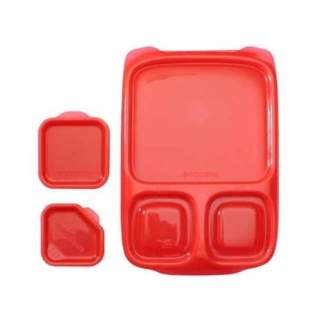 Goodbyn Hero Divided Lunch Box with Dippers