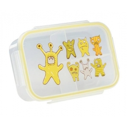 Good Lunch Box 3 Compartment Divided Lunch Container Monsters