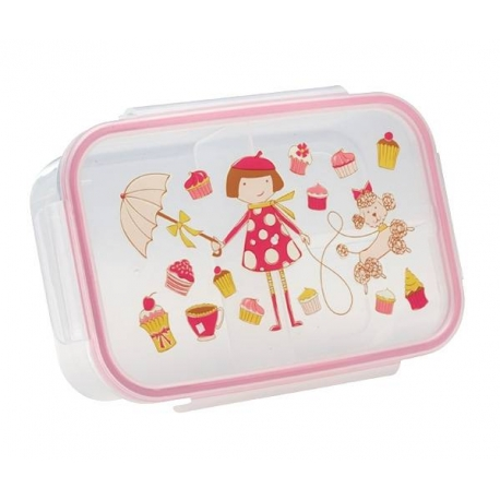 Good Lunch Box 3 Compartment Divided Lunch Container Cupcake Girl