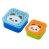 Microwavable Japanese Bento Box Lunch Box set of 2 Snack