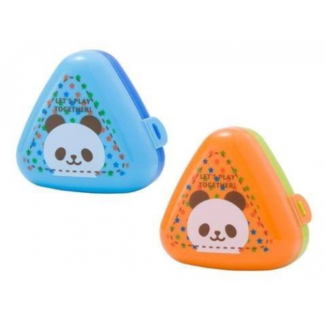 Triangle Rice Ball Bento Box Onigiri Case set of 2 Panda