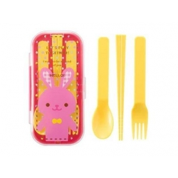 Portable Bento Cutlery Set 4 in 1 Spoon Fork Cutlery Rabbit