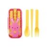 Portable Bento Cutlery Set 4 in 1 Spoon Fork Cutlery Rabbit