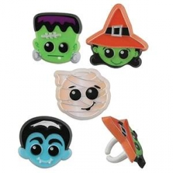 Food Decorating Party Ring Halloween Witch Mummy Dracula