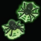 Food Decorating Party Ring Grow in the Dark Spider Web