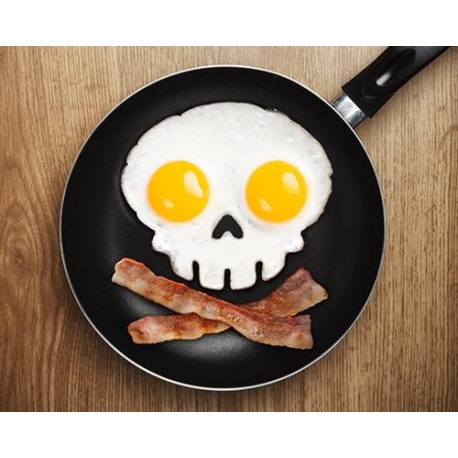 Breakfast Silicone Egg Cooking Mold - Funny Side Up Skull