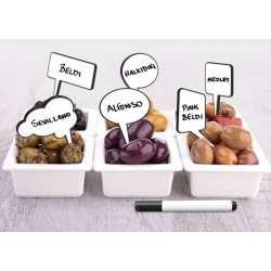 Write-on Bento Food Pick - Snack Talk with Marker 12 pcs