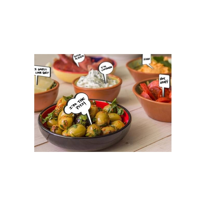 Write-on Bento Food Pick - Snack Talk with Marker 12 pcs for Food ...