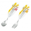 Japanese Bento Accessories Stainless Steel Dessert Fork and Spoon set
