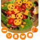 Fun Vegetable Cutter, Flower Butterfly House Face Mustache and Hat